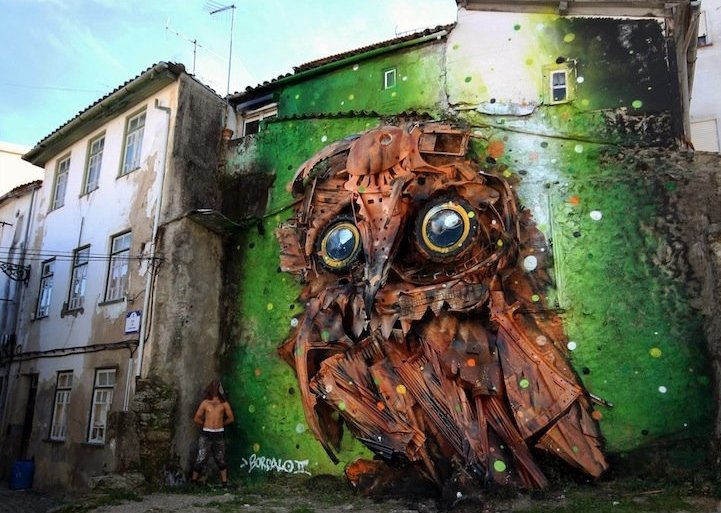 """รีไซเคิล """"ขยะ"""" ให้เป็นงานศิลปะ 3D Street Art 24 - รีไซเคิล"""