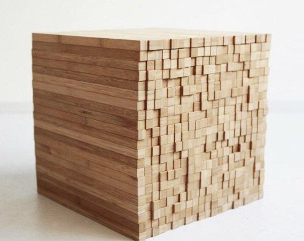 IMG 7910 0 กองไม้รวมกันเป็นโต๊ะ ชั้น ช่องเก็บของ เพียงดันไม้เข้าไป หรือดึงไม้ออกมา