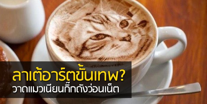 Latte Art ภาพแมวบนฟองนม.. ฝีมือขั้นเทพ! ... แต่แหม ใครสังเกตดีๆ มาจับผิดกัน 13 - latte art