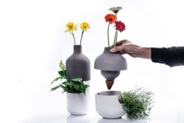 เมื่อกระถางประหยัดน้ำ อยู่ร่วมกับแจกันดอกไม้ เกื้อกูลกันและกัน ..อย่างงดงาม 16 - กระถางต้นไม้