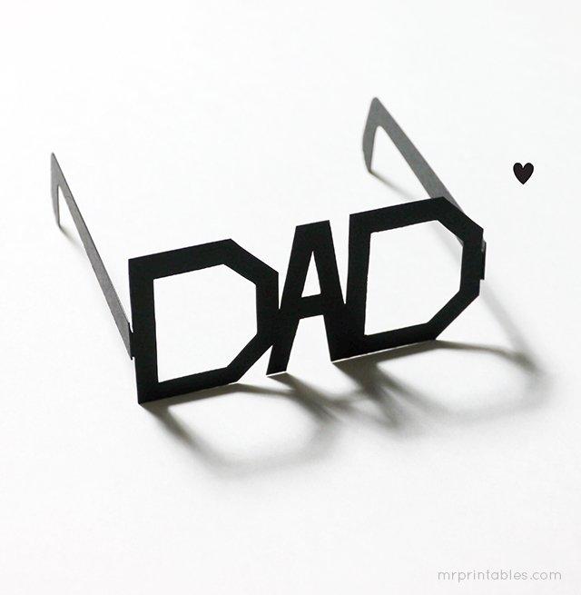 DIY: Father's Day Printable Typography Glasses แว่นสำหรับคุณพ่อสุดแนว 13 - Art & Design