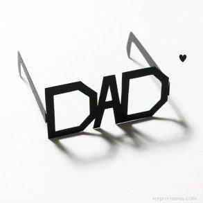 DIY: Father's Day Printable Typography Glasses แว่นสำหรับคุณพ่อสุดแนว 23 - Art & Design