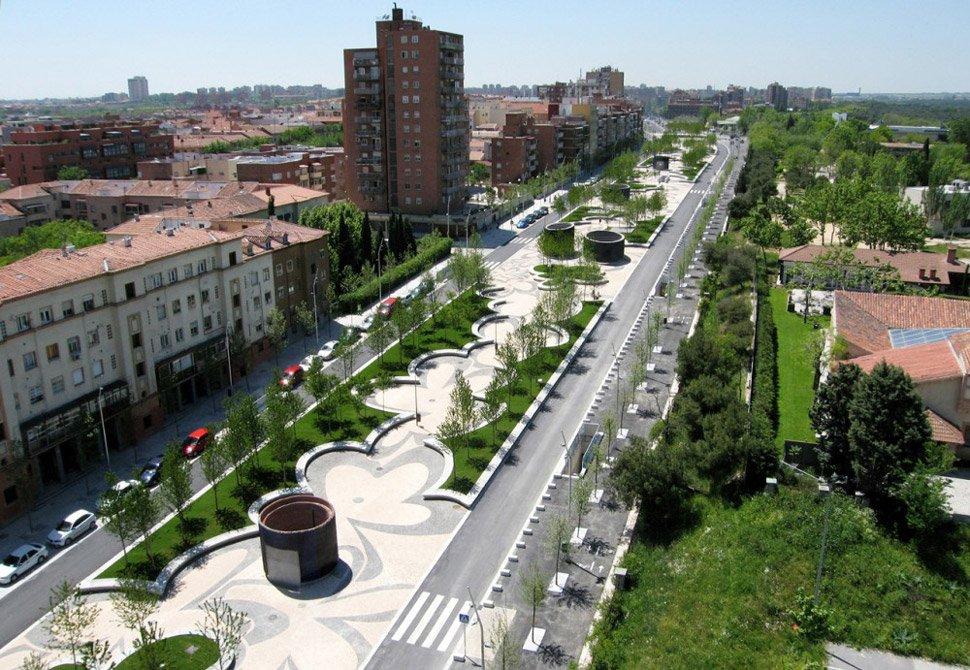 01 madrid rio west8 Madrid Rio Project ปรับปรุงพื้นใหม่ให้เป็นพื้นที่สีเขียวกับวิถีที่ยั่งยืน