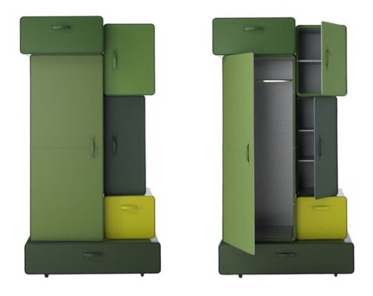 IMG 9791 0 ตู้เสื้อผ้าสไตล์กระเป๋าเดินทางหนัง ...