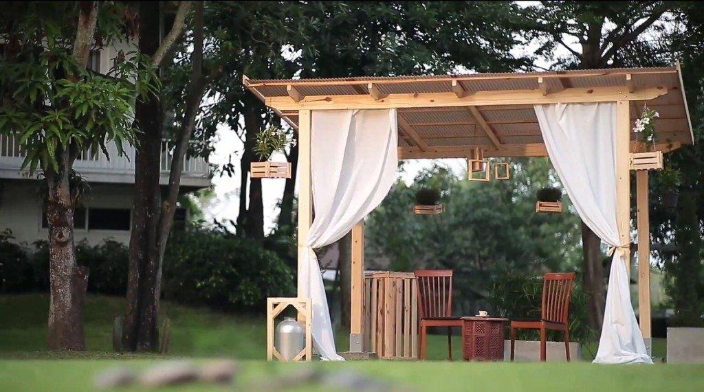 DIY ศาลานั่งเล่นในสวน ทำเองได้ง่ายๆงบไม่บาน 42 - 100 Share+