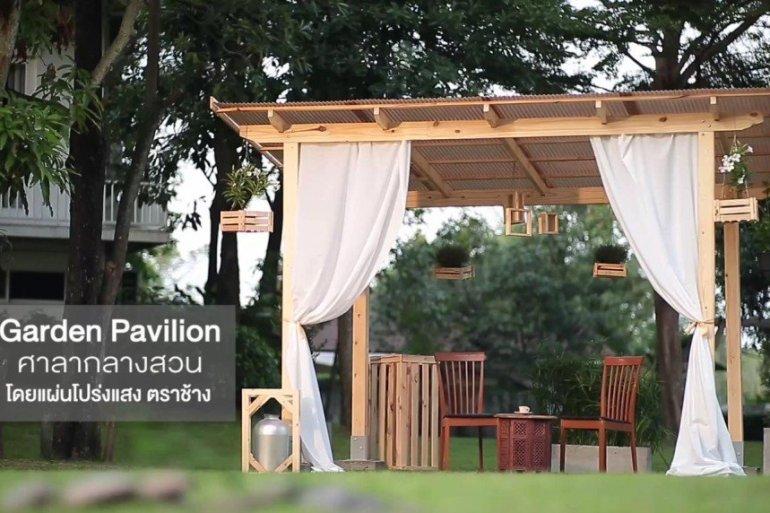 DIY ศาลานั่งเล่นในสวน ทำเองได้ง่ายๆงบไม่บาน 16 - ตราช้าง