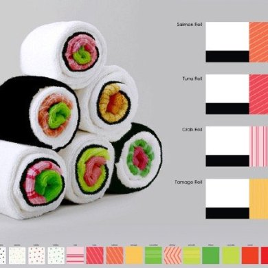 เมื่อผ้าใช้ในครัวกลายเป็นอาหารน่าทาน Sushi Rolls 37 - Gift
