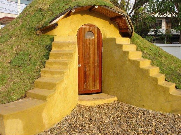 สร้างบ้านเอง Hobbit House บ้านดิน DIY ง่ายๆด้วยตัวเอง งบไม่เกินหมื่น 24 - clay house