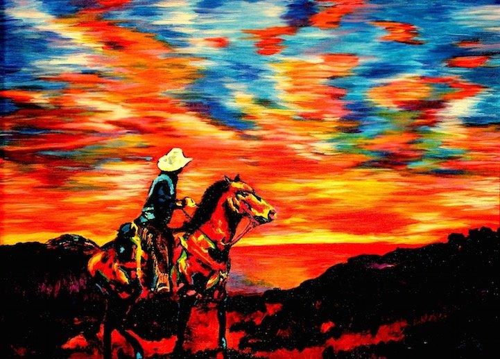 ศิลปินตาบอดสนิท วาดภาพที่เต็มไปด้วยสีสันด้วยการสัมผัส พื้นผิวของสีและผ้า 13 - Art & Design