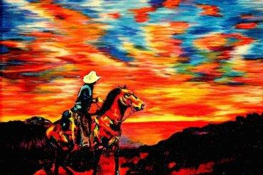 ศิลปินตาบอดสนิท วาดภาพที่เต็มไปด้วยสีสันด้วยการสัมผัส พื้นผิวของสีและผ้า 15 - Artist