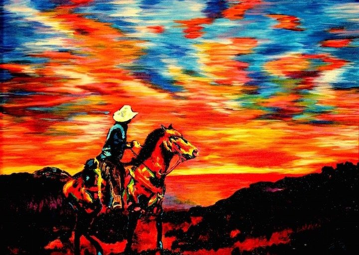 ศิลปินตาบอดสนิท วาดภาพที่เต็มไปด้วยสีสันด้วยการสัมผัส พื้นผิวของสีและผ้า 15 - Painting