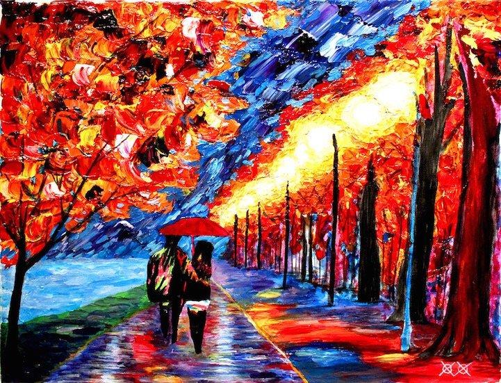 ศิลปินตาบอดสนิท วาดภาพที่เต็มไปด้วยสีสันด้วยการสัมผัส พื้นผิวของสีและผ้า 20 - Art & Design