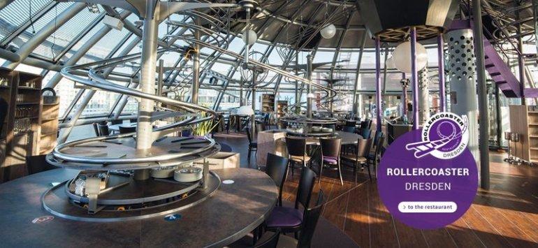 "Roller Coaster Restaurant @ Abu Dhabi เสริฟ์อาหารด้วย ""รถไฟเหาะตีลังกา"" 13 - Abu Dhabi"