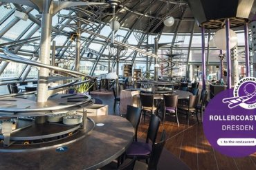 "Roller Coaster Restaurant @ Abu Dhabi เสริฟ์อาหารด้วย ""รถไฟเหาะตีลังกา"" 13 - Roller coaster"