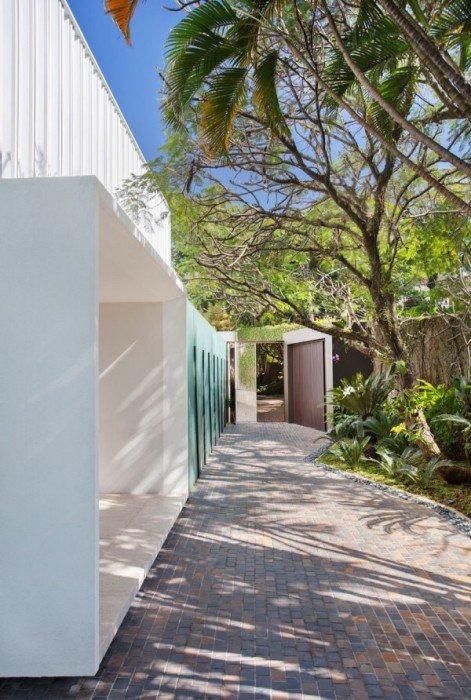 รั้วบ้านกันเสียงและได้ภาพงดงามเหมือนฝัน 15 - courtyard