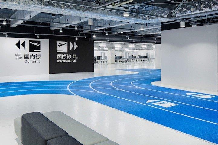 สนามบินNaritaในโตเกียว เปลี่ยนทางเลื่อนเป็นลู่วิ่งเพื่อต้อนรับโอลิมปิค2020 16 - airport