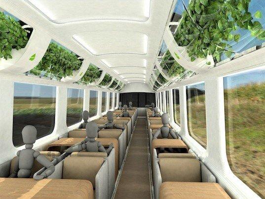 รถไฟที่ใช้เทคโนโลยีจากNASA เพื่อสร้างอากาศบริสุทธิ์แบบธรรมชาติภายในรถ 15 - sustainable