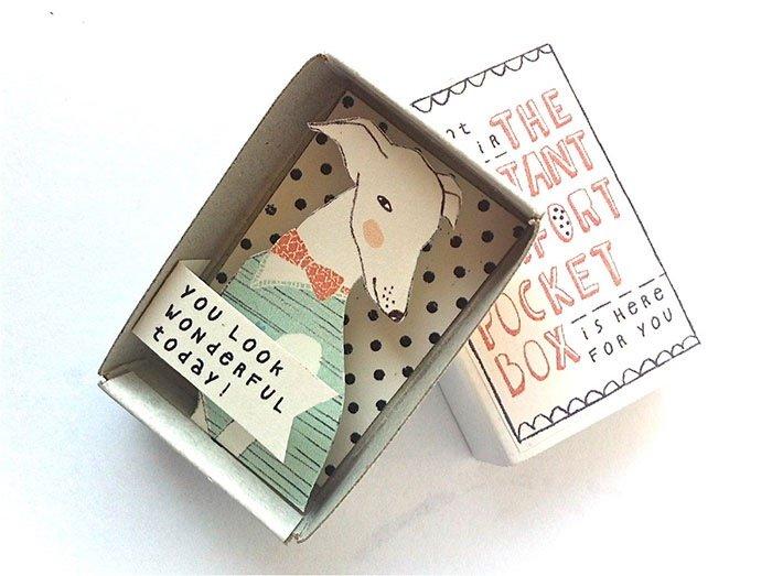 ไอเดียกล่องส่งสารจากใจ ทำจากกล่องไม้ขีดเล็กๆ..มอบความสุขให้ผู้รับ 14 - Art & Design