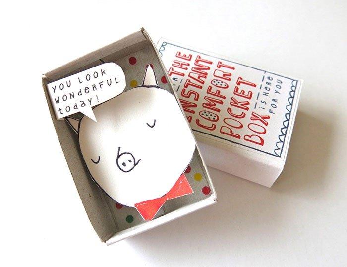 ไอเดียกล่องส่งสารจากใจ ทำจากกล่องไม้ขีดเล็กๆ..มอบความสุขให้ผู้รับ 19 - Art & Design