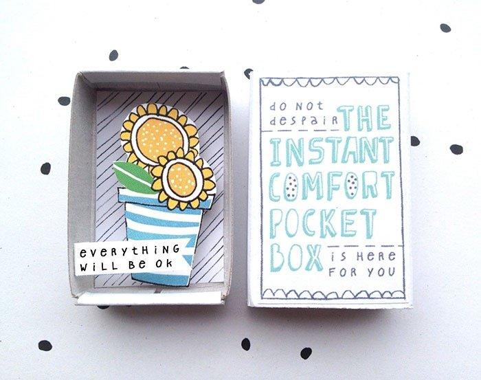 ไอเดียกล่องส่งสารจากใจ ทำจากกล่องไม้ขีดเล็กๆ..มอบความสุขให้ผู้รับ 22 - Art & Design