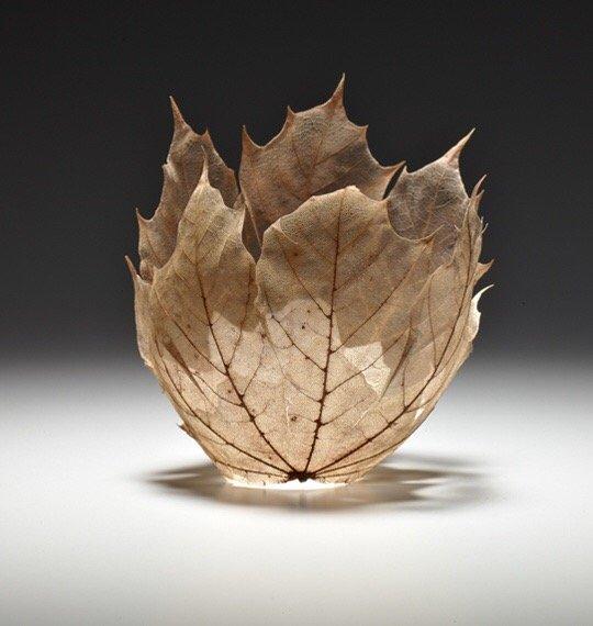 """ดีไซน์งดงามไร้กาลเวลา """"ชามใบไม้"""" สุดยอดไอเดียออกแบบโดย Kay Sekimachi 17 - Japan"""