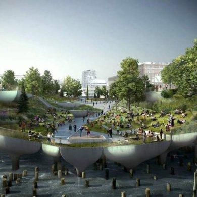 A New Floating Island Park โครงการการปรับปรุงท่าเรือให้เป็นสวนสาธารณะ 14 - Architecture