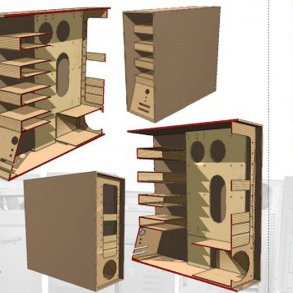 The Recycled Cardboard Computer Case คอมพิวเตอร์กระดาษ 19 - Computer