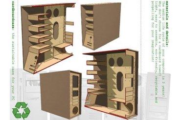 The Recycled Cardboard Computer Case คอมพิวเตอร์กระดาษ 14 - รีไซเคิล
