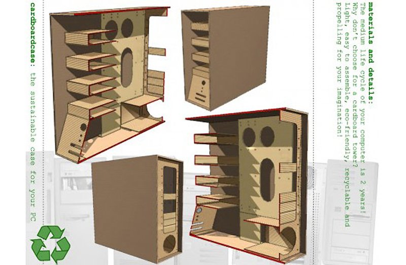 The Recycled Cardboard Computer Case คอมพิวเตอร์กระดาษ 13 - Computer