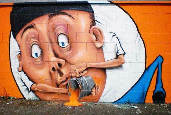 Street Art ที่สร้างเรื่องราวกับสิ่งแวดล้อมได้อย่างสนุก..กระแทกสายตา 18 - Interactive