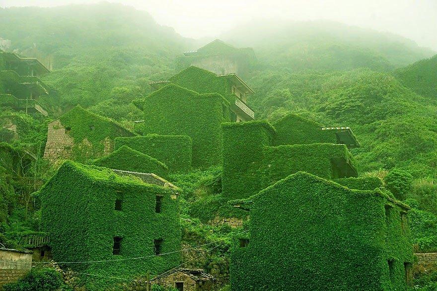 หมู่บ้านชาวประมงในจีน ที่ถูกธรรมชาติยึดพื้นที่คืน 14 - abandon village