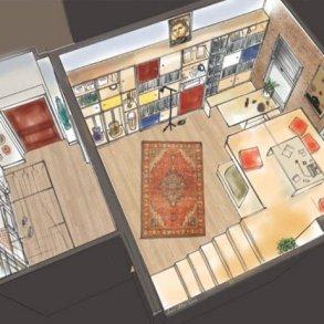 """แบบบ้านสุดเล็กแต่ใช้พื้นที่สุดคุ้มเพียง14 ตรม. จากซีรีย์ """"Girl"""" ทาง HBO 25 - Apartment"""