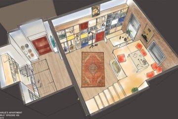 """แบบบ้านสุดเล็กแต่ใช้พื้นที่สุดคุ้มเพียง14 ตรม. จากซีรีย์ """"Girl"""" ทาง HBO 8 - Apartment"""