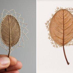 ศิลปะการถักทอ บนใบไม้.. สมดุลระหว่างความบอบบาง และแข็งแกร่ง 14 - Art & Design