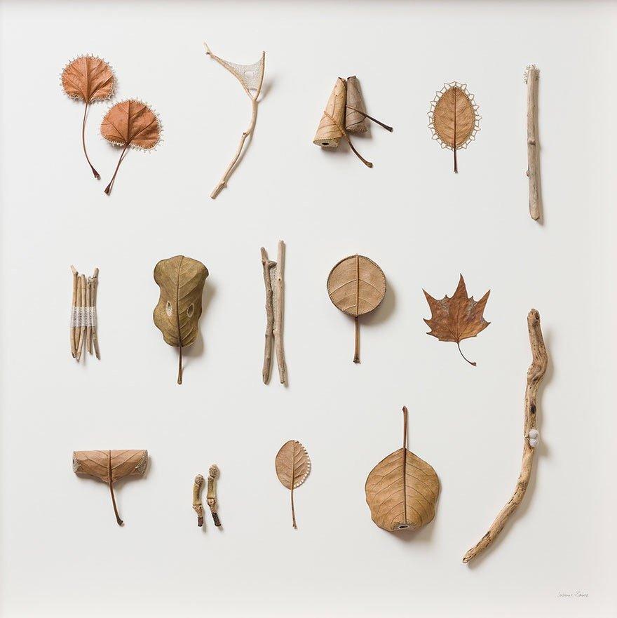 ศิลปะการถักทอ บนใบไม้.. สมดุลระหว่างความบอบบาง และแข็งแกร่ง 22 - Art & Design