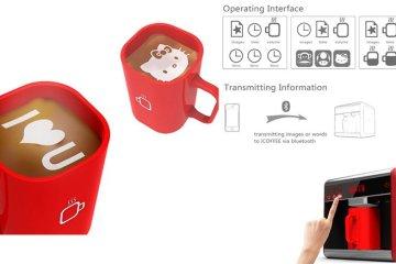 I-Coffee Machine เครื่องทำโฟมอาร์ตบนกาแฟ 2 - barista
