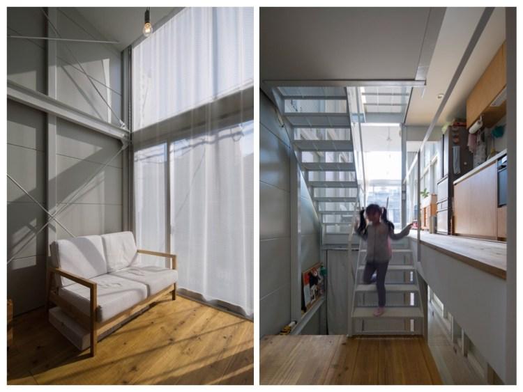 บ้านที่เกิดจากพื้นที่ระหว่างอาคาร กว้างเพียง 3.4 เมตร 21 - Japan