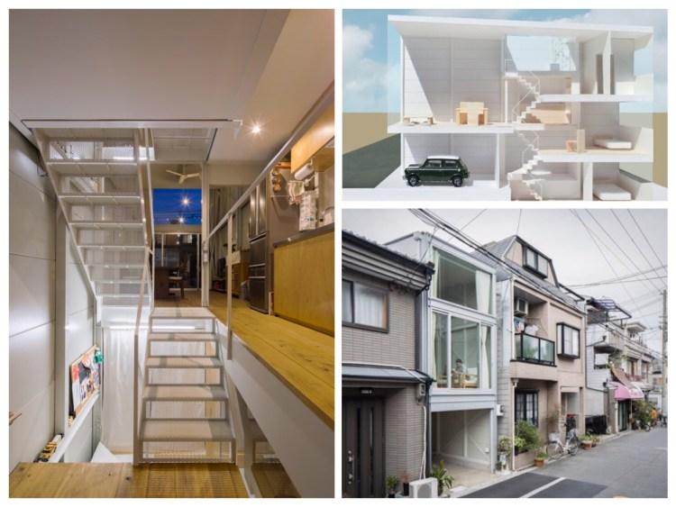 บ้านที่เกิดจากพื้นที่ระหว่างอาคาร กว้างเพียง 3.4 เมตร 13 - Japan