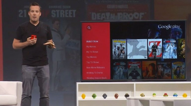 ภาพจากคลิป Google เปิดตัว Android TV ในงาน Google IO
