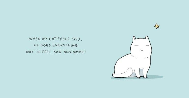 พอแมวฉันรู้สึกเศร้า เขาทำทุกอย่างให้ไม่รู้สึกเศร้าอีกต่อไป!
