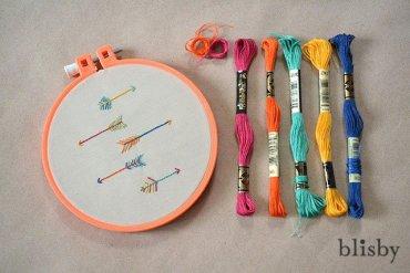 DIY : ปักผ้ารูปลูกศร 2 วิธี 14 - ธนู
