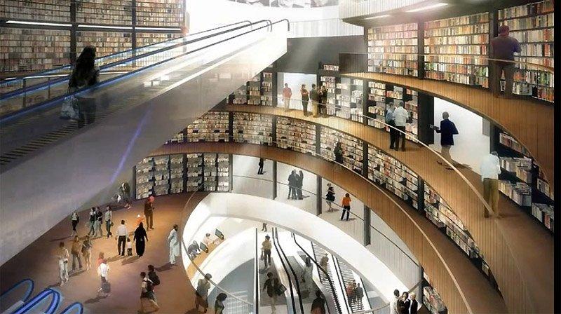 Birmingham Library Animation 01 Library of Birmingham ห้องสมุดที่ใหญ่ที่สุดในยุโรป