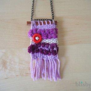 DIY : สร้อยคอน่ารัก ทอจากไหมพรม 21 - necklace