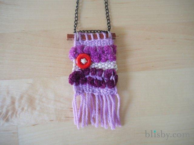 DIY : สร้อยคอน่ารัก ทอจากไหมพรม 13 - woven