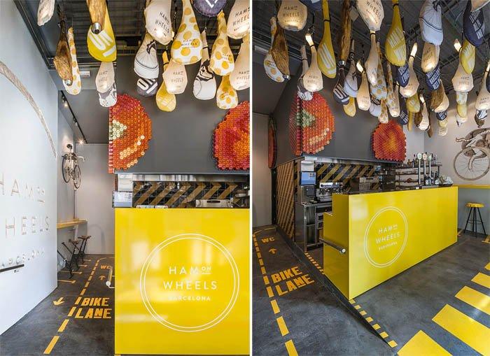 741 Ham On Wheels Restaurant ร้านฟาสต์ฟู้ดสำหรับเหล่านักปั่น