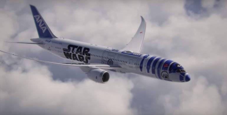 เมื่อ R2D2 กลายเป็นเครื่องบินของจริง! Starwars+ANA ออกสู่โลกแล้ว 13 - Airplane