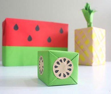 DIY: เปลี่ยนกล่องของขวัญธรรมดาให้หน้าตาเหมือนผลไม้ 16 - กระดาษ