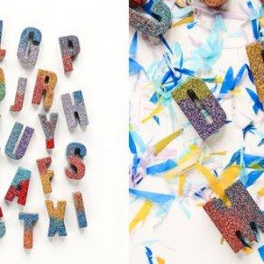 DIY : ตัวอักษรเรซินวิบวับ 15 - glitter