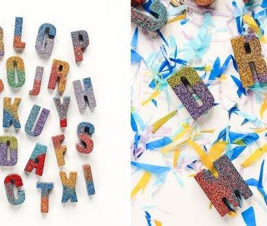 DIY : ตัวอักษรเรซินวิบวับ 16 - glitter