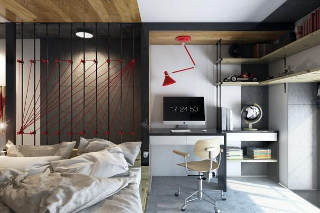 "cool modern home art 750x500 5 ไอเดียสร้างสรรค์  แต่งห้องสไตล์ ""microloft"""